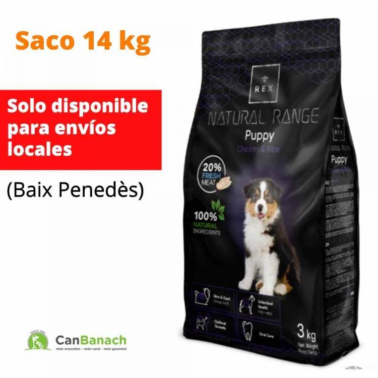 REX DOG NATURAL RANGE CACHORROS SACO DE 14 KILOS