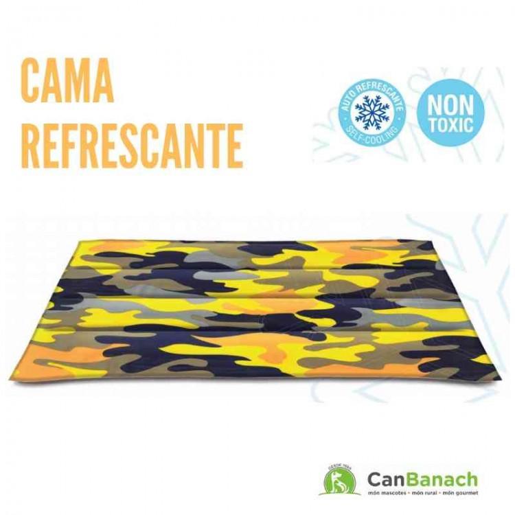 CAMA REFRESCANTE COOL MAT CAMUFLAJE AMARILLO 50 X 90 CM