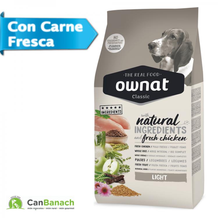Ownat Dog Classic Light saco de 20 Kilos - Pienso para perros con tendencia al sobrepeso