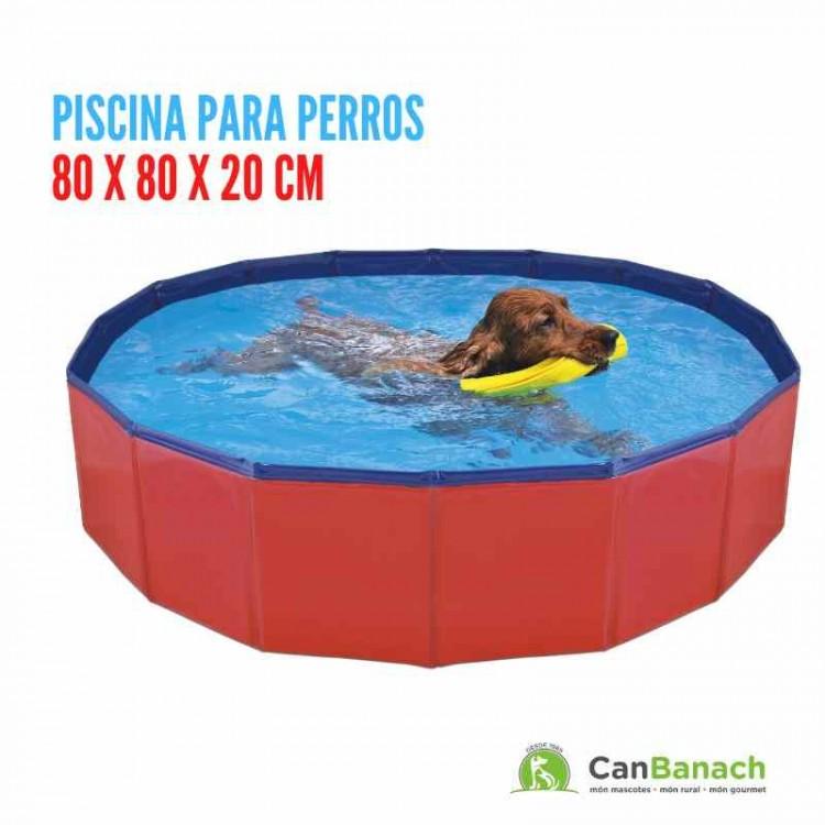 Piscina para Perros 80 X 80 X 20 CM - ( 0,128 m3 - 128 Lts)