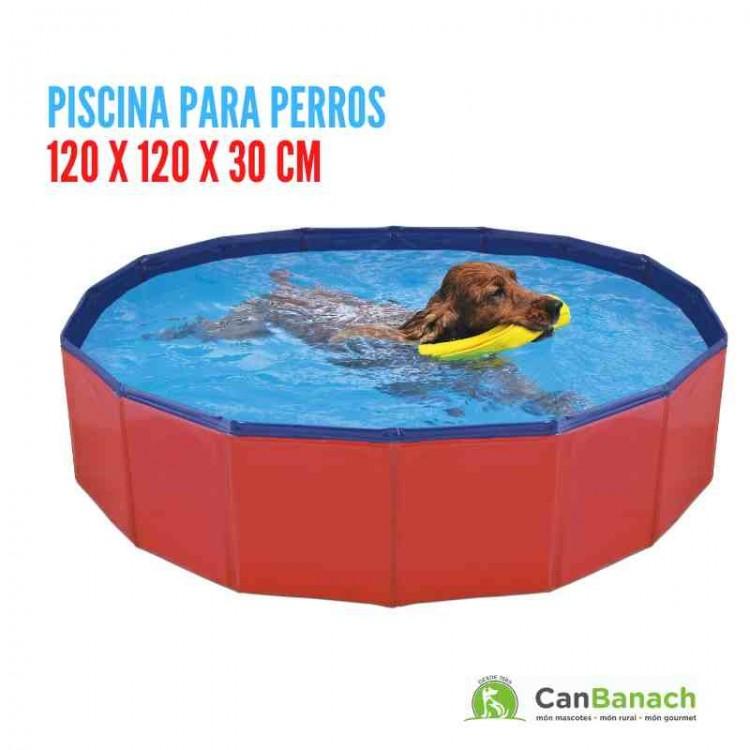 Piscina para perros 120 X 120 x 30 CM - (0,430 m3 - 430 lts)