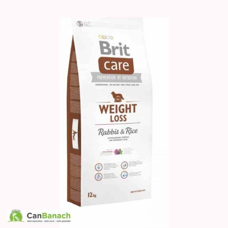 Brit Care Weight Loss Rabbit & Rice saco 12 kg para perros