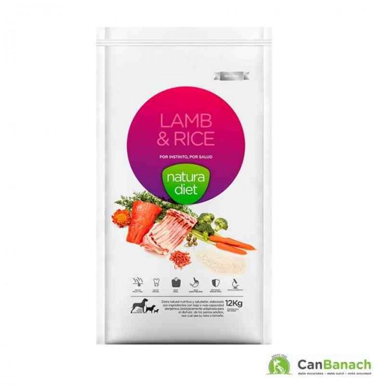 Natura Diet Lamb & Rice saco de 12 Kilos