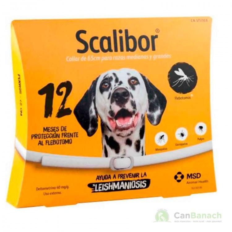 Collar Scalibor 65 CM Antiparasitario para Perros 12 meses