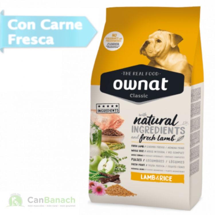 Ownat Dog Classic Lamb&Rice saco 20 kg - Pienso para perros adultos con Cordero y Arroz