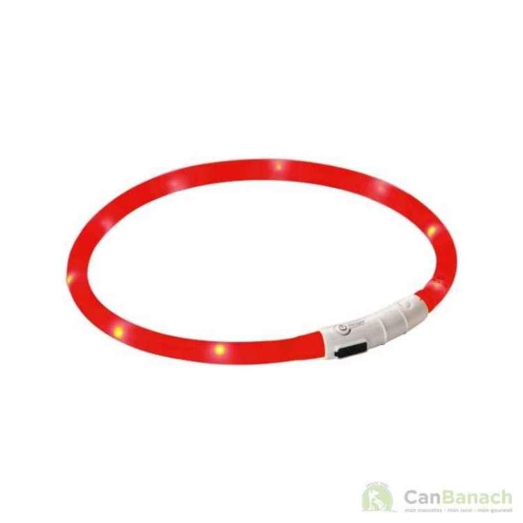 Collar para perro LED Maxi Safe rojo 55 cm