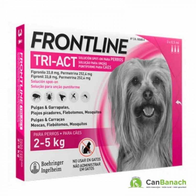 FRONTLINE TRI-ACT PARA PERROS DE 2 A 5 KILOS (3 PIPETAS)