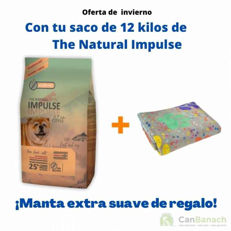 The Natural Impulse Dog Salmón 12 kilos + Manta de Regalo