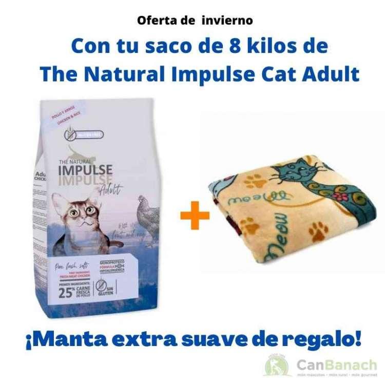The Natural Impulse Cat Adult Adult 8 kilos + Manta de Regalo