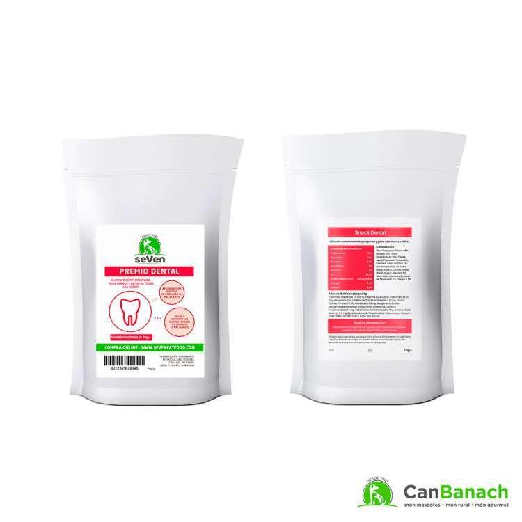 seVen - Snack dental para perros y gatos 70gr