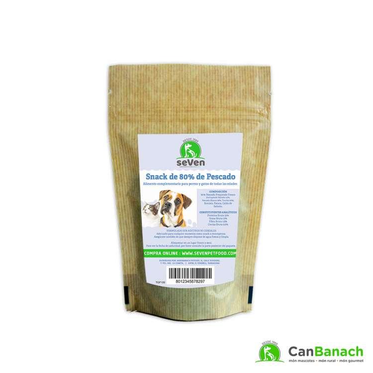 seVen - Snack para perros y gatos Grain Free de 80% de pescado 100 GR