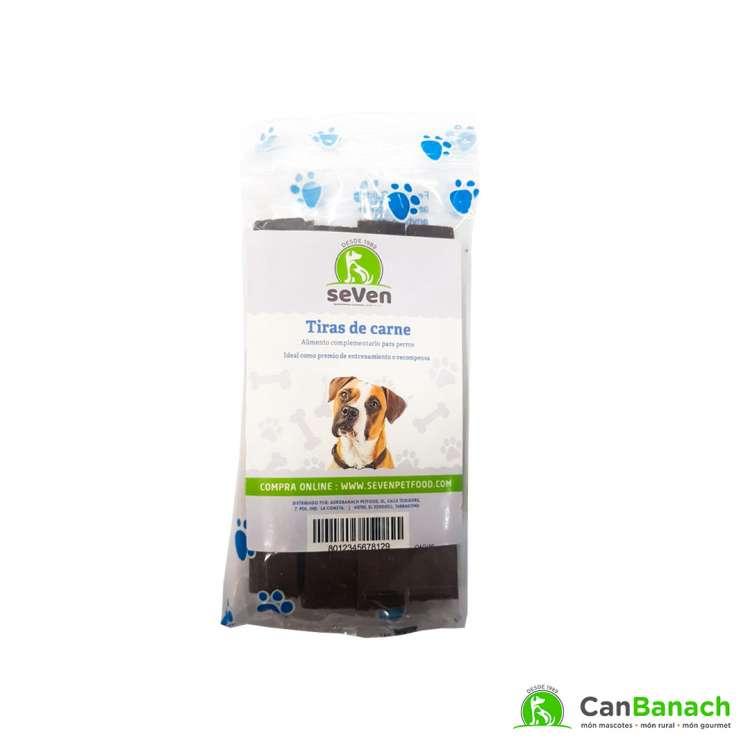 seVen- Snack tiras de carne para perros 150gr