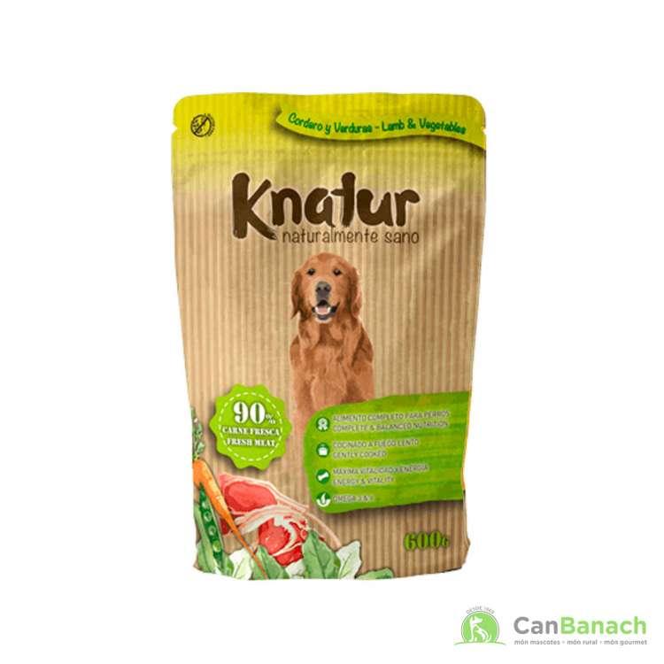 Alimento Húmedo Knatur 90 % cordero 600 GR
