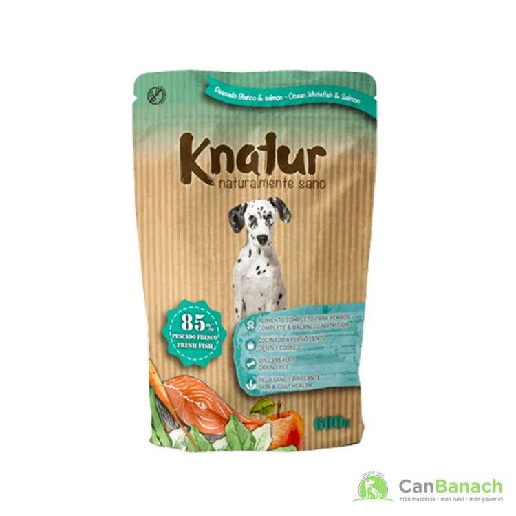 Alimento Húmedo Knatur 85 % salmón 600 GR