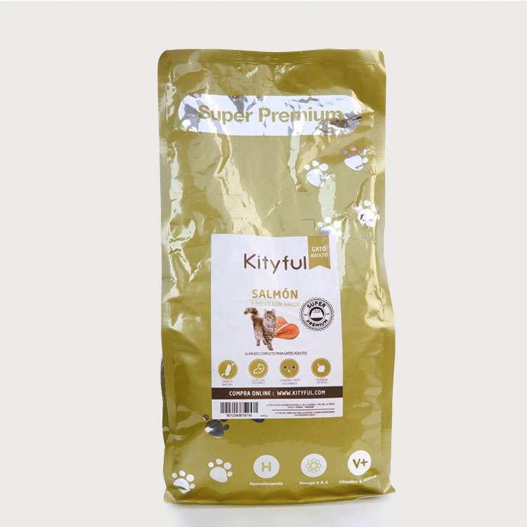 Kityful cat premium salmón con pollo y arroz  2 KG