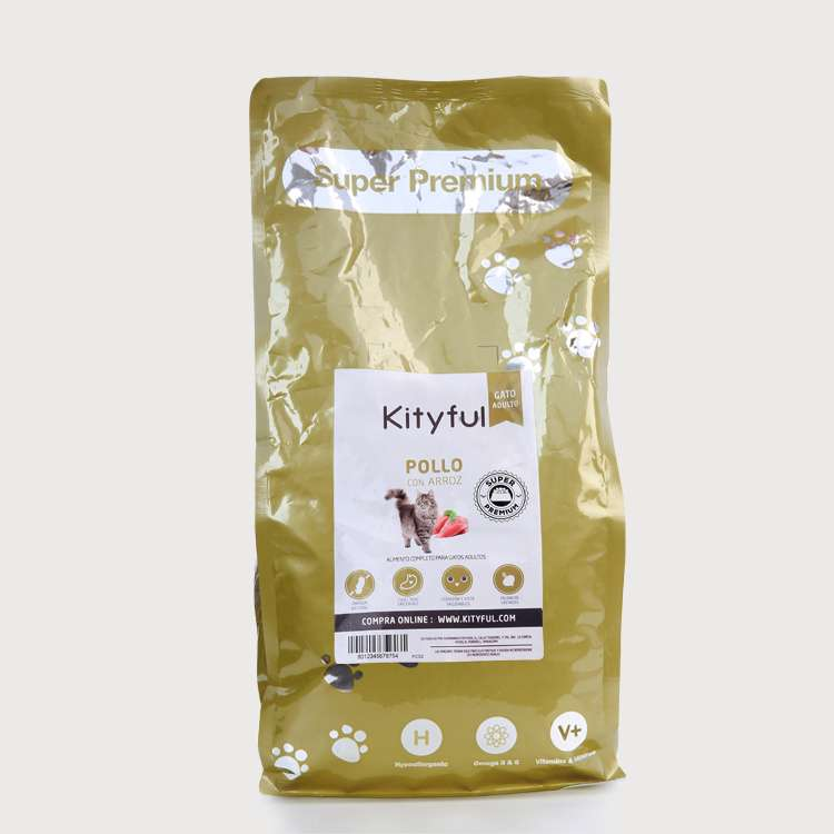 Kityful cat premium pollo y arroz 7,5 kg