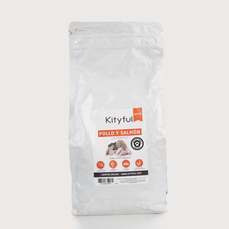 Kityful cat grain free gatito pollo salmón y boniato 2 KG